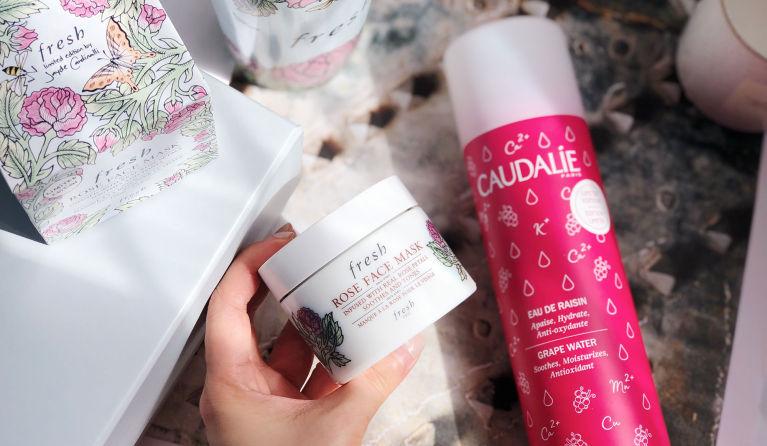解決敏感粗糙肌|兩步鎮靜保濕肌膚:推介Fresh玫瑰保濕面膜+Caudalie葡萄籽水保濕噴霧