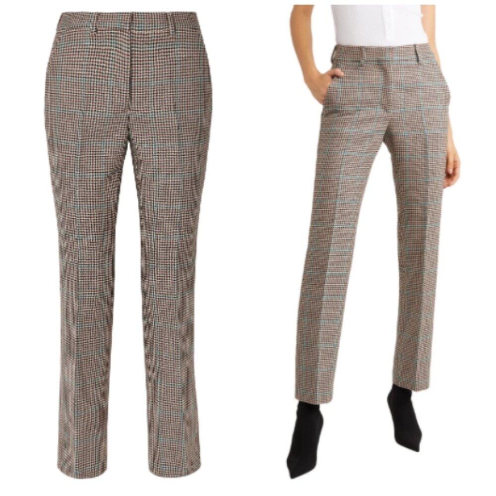 OFF-WHITE™ Houndstooth wool slim-leg pants