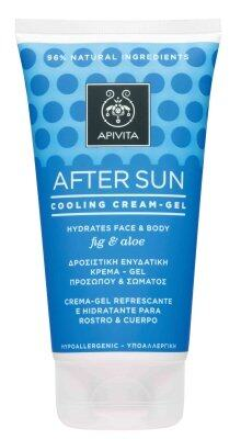 Apivita After Sun Cooling Cream-Gel For Face & Body with Fig & Aloe