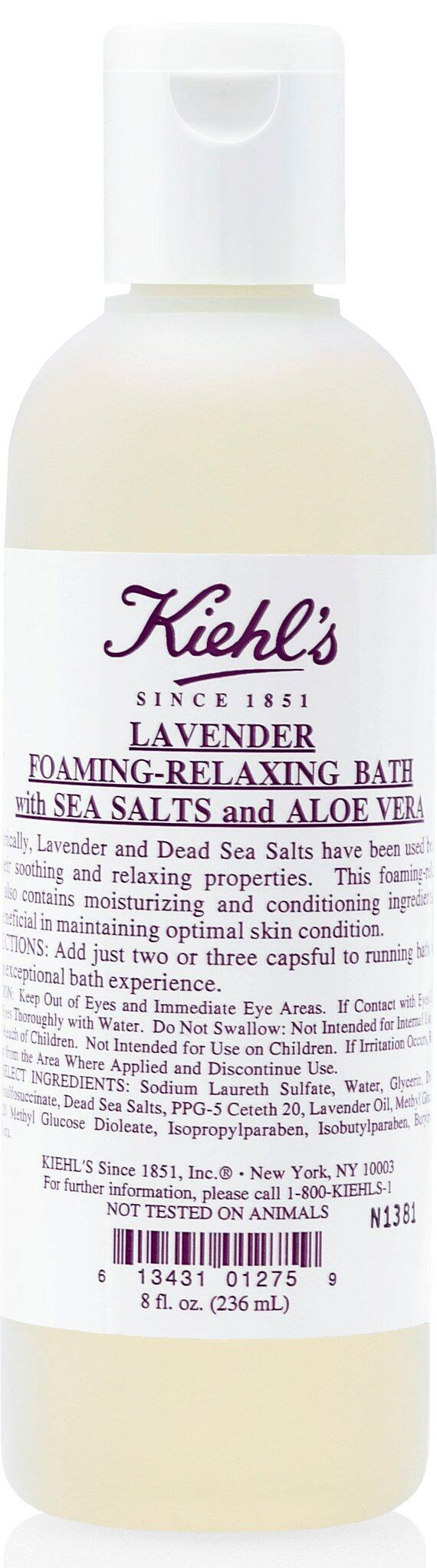 Kiehl's Lavender Foaming-Relaxing Bath with Sea Salts and Aloe Vera($195)含薰衣草及死海