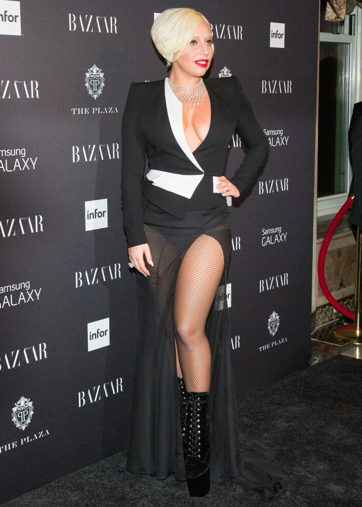 Lady Gaga出席Harper's BAZAAR於New York Fashion Week主辦的派對