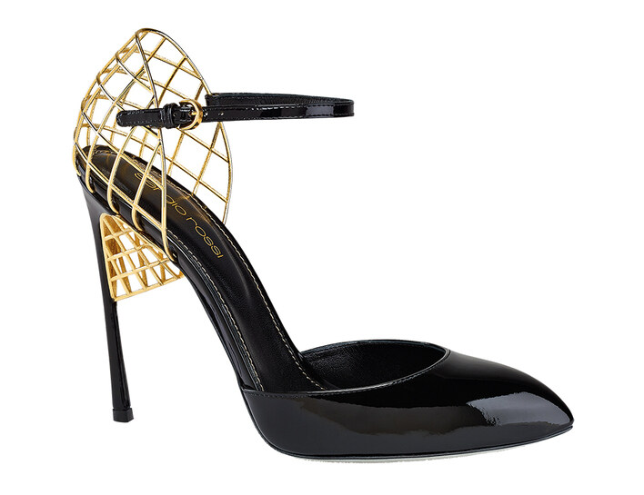 Sergio Rossi, metal frame sandals